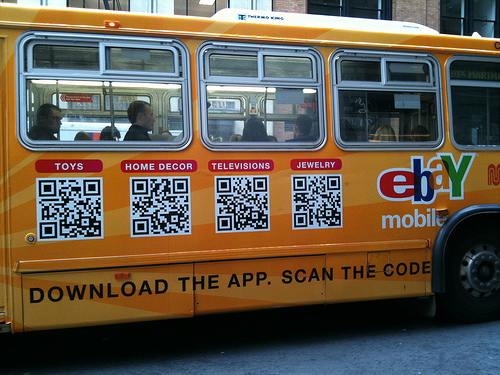 Ebay QR Code Bus Ad